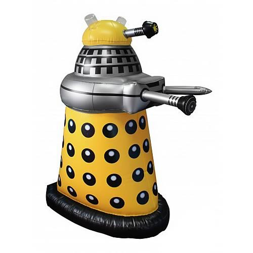 Doctor Who Small Inflatable Yellow Dalek