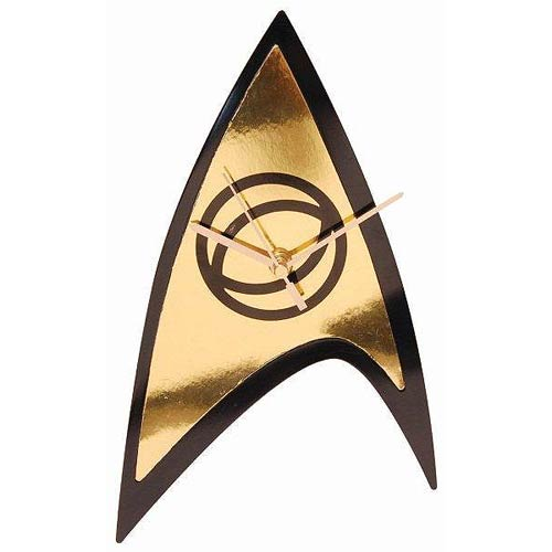 Star Trek Science Badge Emblem Wall Clock with Back-Light