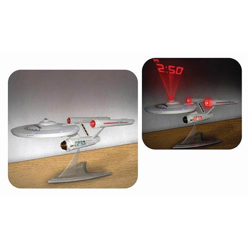 Star Trek Enterprise NCC-1701 Ship Projection Alarm Clock