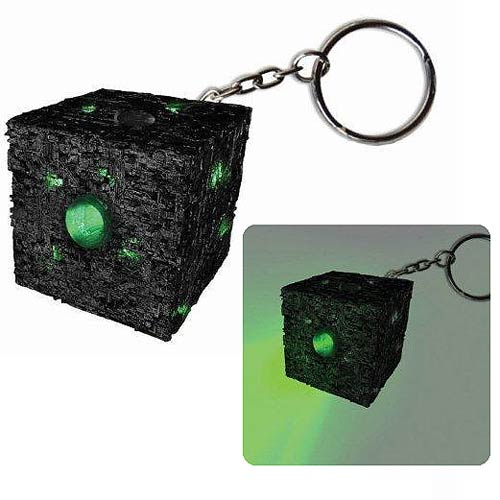 Star Trek Borg Cube Light-Up Key Chain