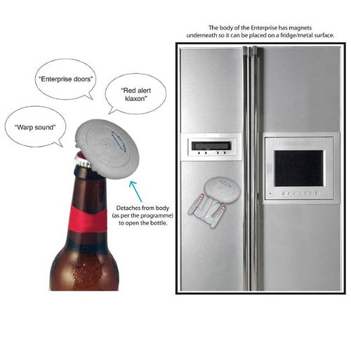 Star Trek Enterprise NCC-1701 Talking Bottle Opener