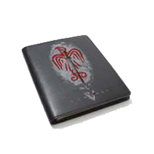 Vikings Gray Sword with Bird Symbol Pleather Notebook