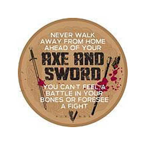 Vikings Axe and Sword Wooden Sign