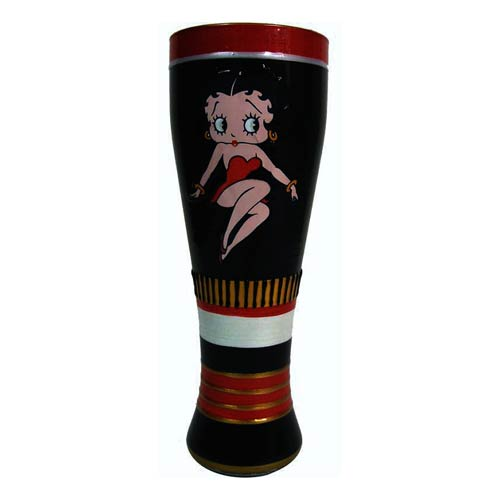 Betty Boop Boop-Oop-A-Doop! Hand Painted Pilsner Glass
