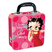 Betty Boop Retail Therapy Square Tin Tote
