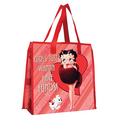 Betty Boop Girls Wanna Have Funds Reusable Shopping Tote