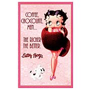 Betty Boop The Richer The Better Large Tin Sign