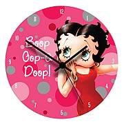 Betty Boop Wood Wall Clock