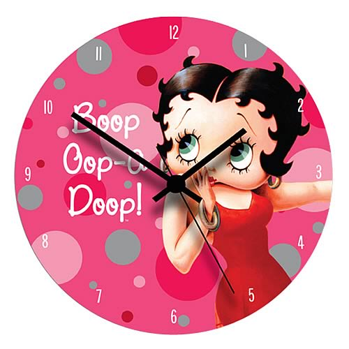 Betty Boop Wood Wall Clock