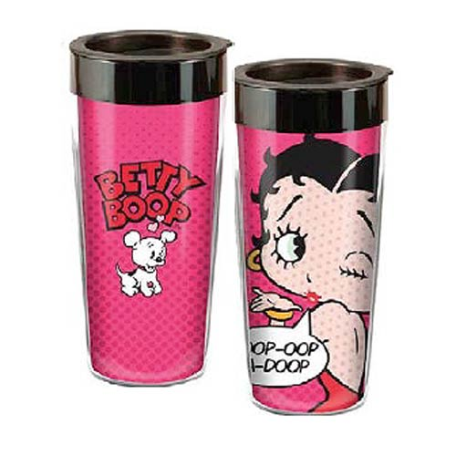 Betty Boop Boop-Oop-A-Doop 16 oz. Plastic Travel Mug