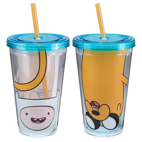 Adventure Time with Finn and Jake 18 oz. Acrylic Travel Cup