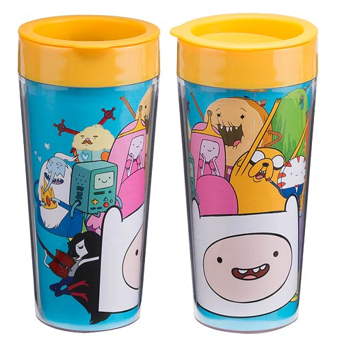 Adventure Time with Finn and Jake 16 oz. Plastic Travel Mug
