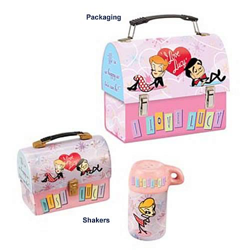 I Love Lucy Lunch Box Salt and Pepper Shaker Set