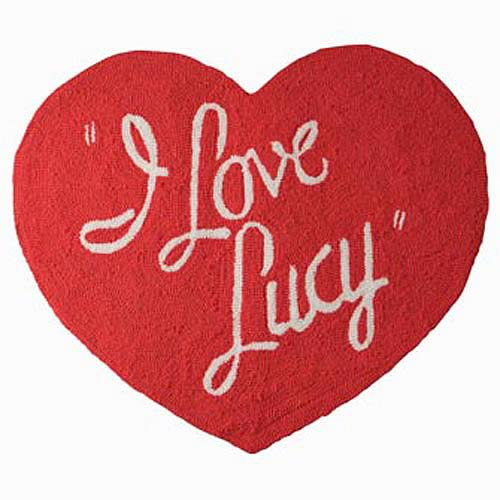I Love Lucy Heart Shape Rug