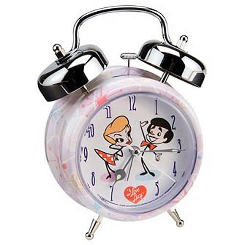I Love Lucy Cartoon Twin Bell Alarm Clock