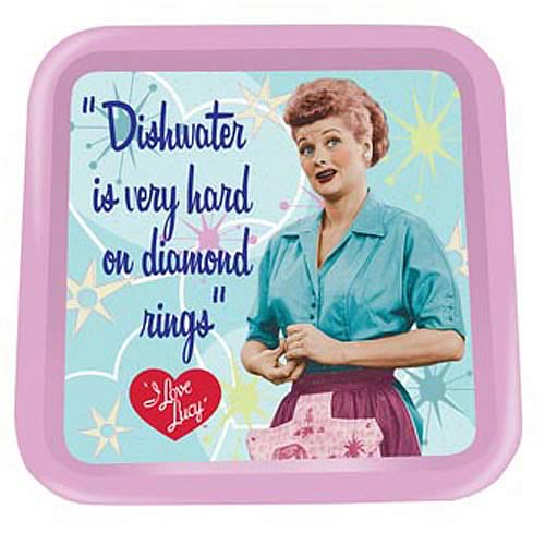 I Love Lucy Dishwater Diamond Rings Tin Tray