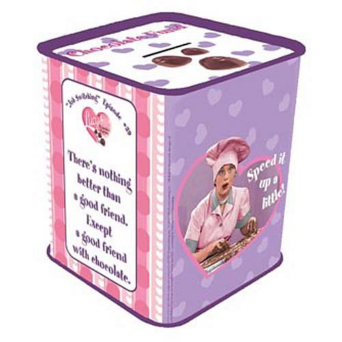 I Love Lucy Chocolate Fund Tin Savings Bank
