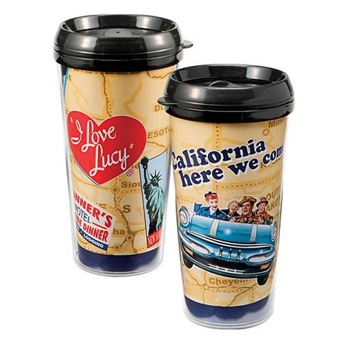 I Love Lucy California Here We Come Plastic Travel Mug