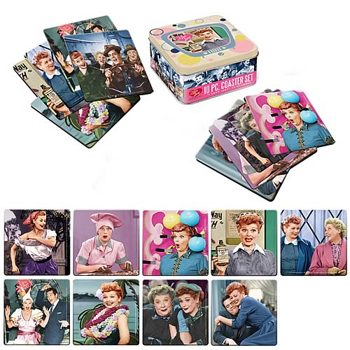 I Love Lucy Coaster Set with Tin Storage Box