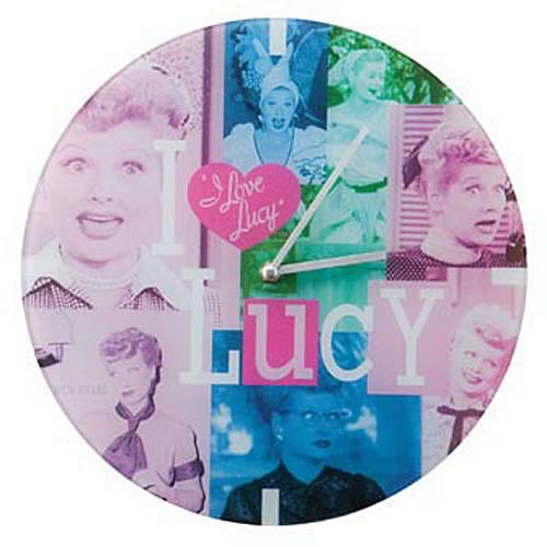 I Love Lucy Glass Wall Clock