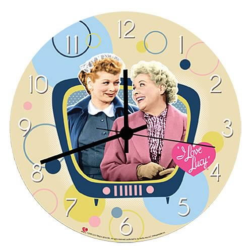 I Love Lucy Wood Wall Clock