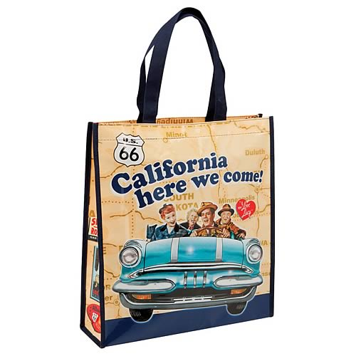 I Love Lucy California Here We Come Reusable Shopping Tote