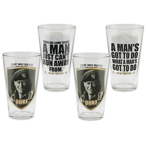 John Wayne Duke Glasses 4-Pack