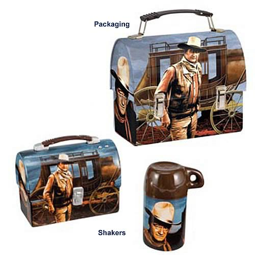 John Wayne Lunch Box Salt and Pepper Shaker Set