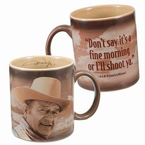 John Wayne It's a Fine Morning Mug