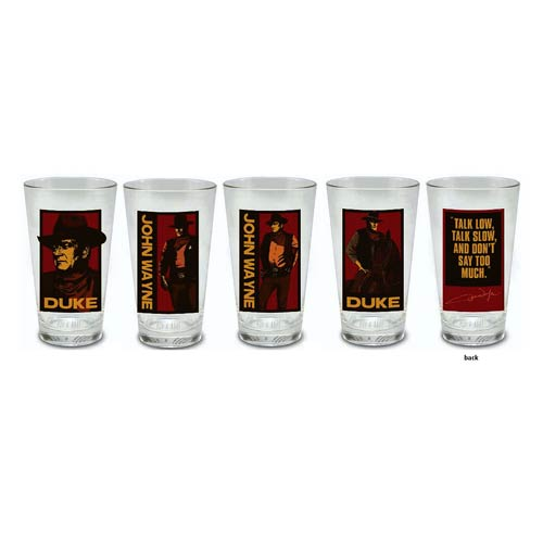 John Wayne 16 oz. Pint Glass 4-Pack