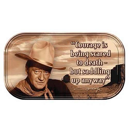 John Wayne Courage Mini Tin Sign