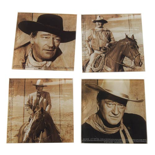 John Wayne Glass Coasters Set 4-Pack