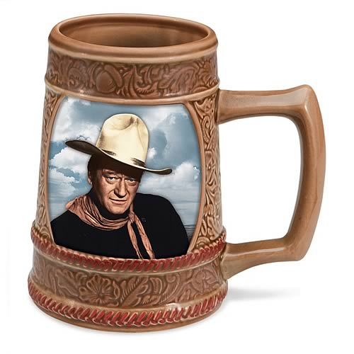 John Wayne Sculpted Ceramic Stein