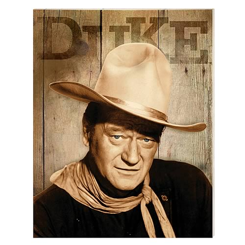 John Wayne Duke Large Stretched Canvas Print