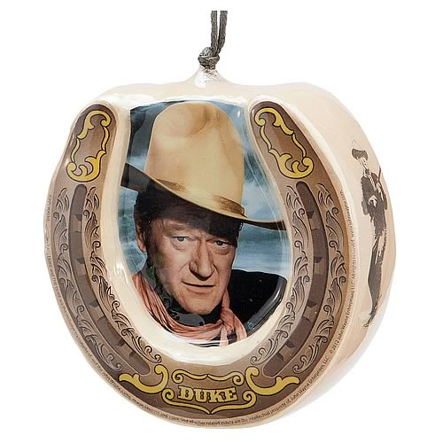 John Wayne Horseshoe Decorative Ornament