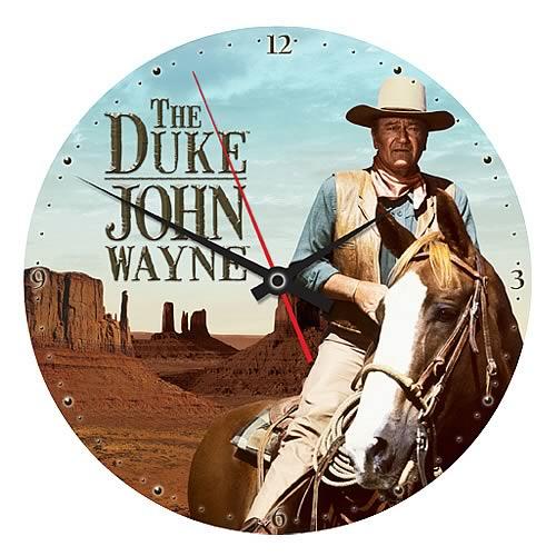 John Wayne The Duke Wood Wall Clock