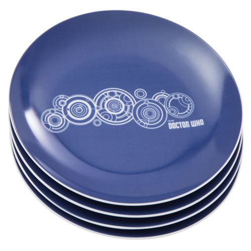 Doctor Who 8-Inch Ceramic Plate 4-Pack Set