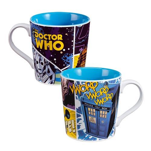 Doctor Who Comic Book 12 oz. Ceramic Mug