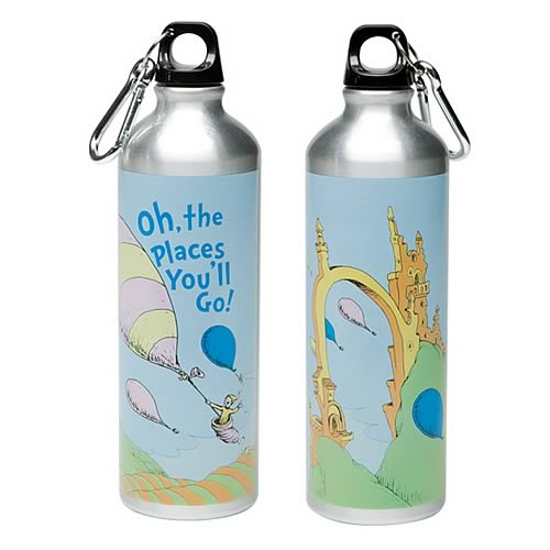 Dr. Seuss Oh Places You'll Go Stainless Steel Water Bottle