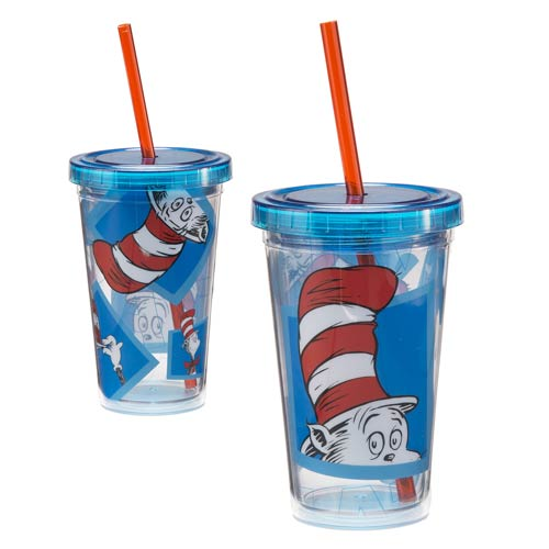 Dr. Seuss Cat in the Hat 12 oz. Acrylic Travel Cup