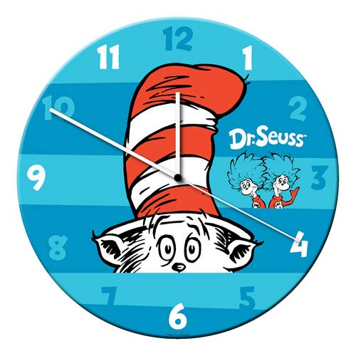 Dr. Seuss 13 1/2-Inch Cordless Wood Wall Clock