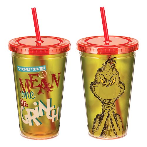 Dr. Seuss You're A Mean One Mr. Grinch 18 oz. Travel Cup