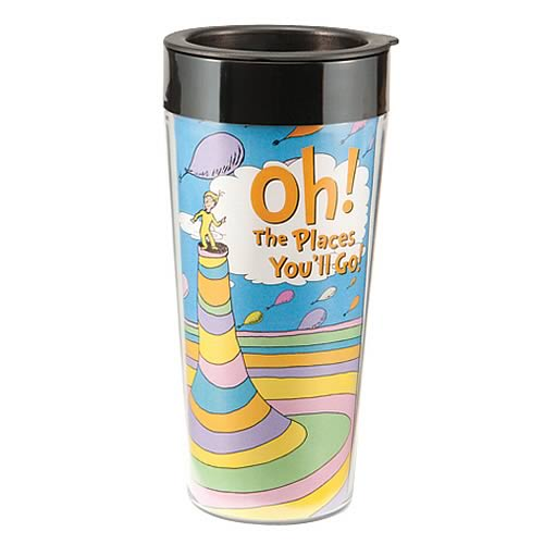Dr. Seuss Oh the Places You'll Go Plastic Travel Mug