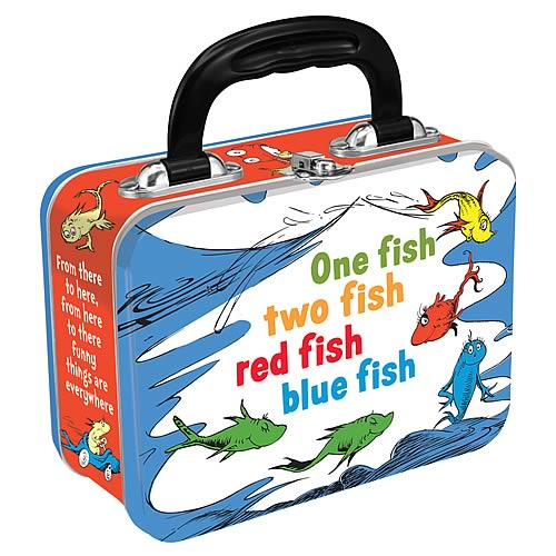 Dr. Seuss One Fish Two Fish Red Fish Blue Fish Tin Tote