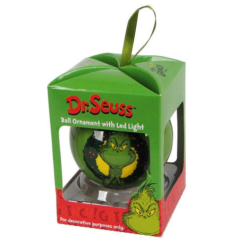 Dr. Seuss The Grinch Light-Up Decoupage Ball Ornament