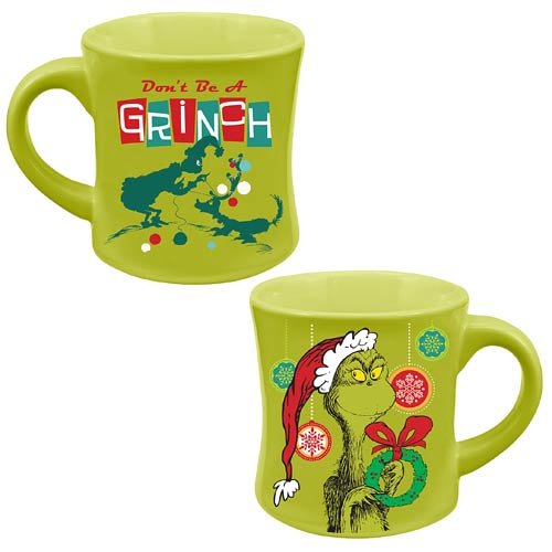 Dr. Seuss Don't Be a Grinch Christmas 12 oz. Ceramic Mug