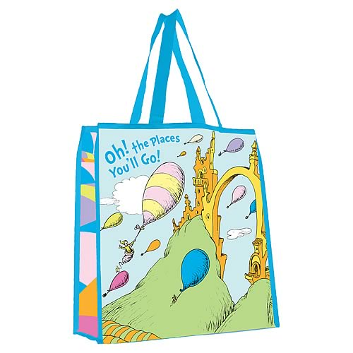 Dr. Seuss Oh The Places You'll Go Reusable Shopping Tote
