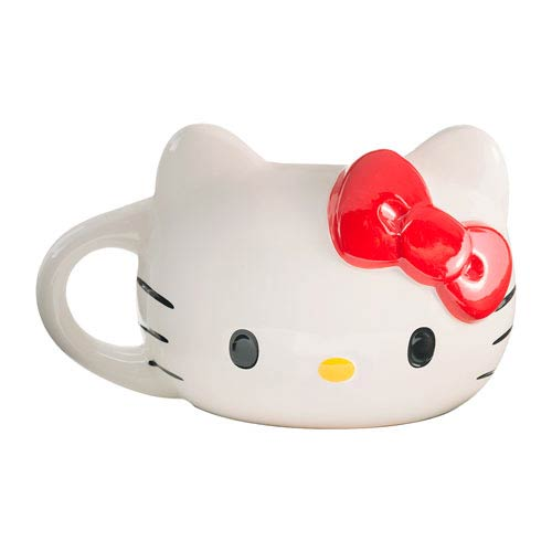 Hello Kitty Head Sculpted Ceramic Mug
