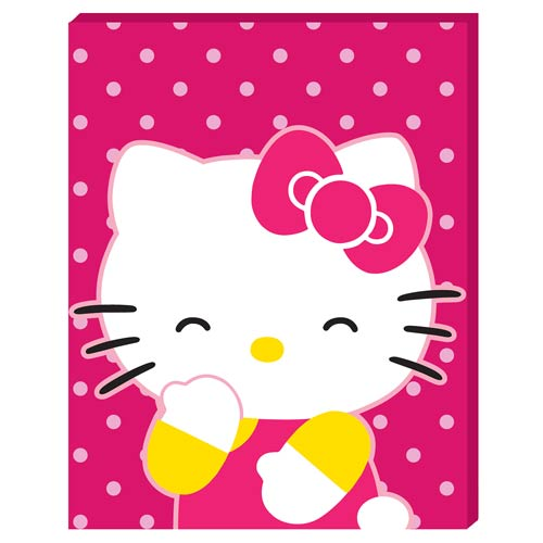 Hello Kitty Large Stretched Canvas Print