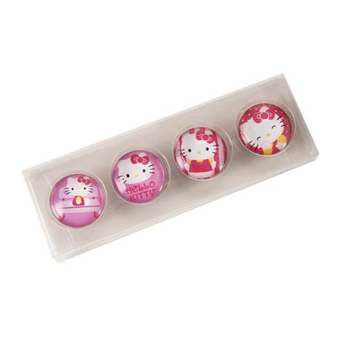 Hello Kitty Glass Magnet Set 4-Pack